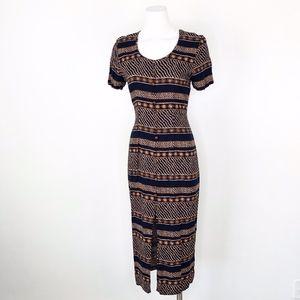 Vintage 90s Dawn Joy | Short Sleeve Midi Dress